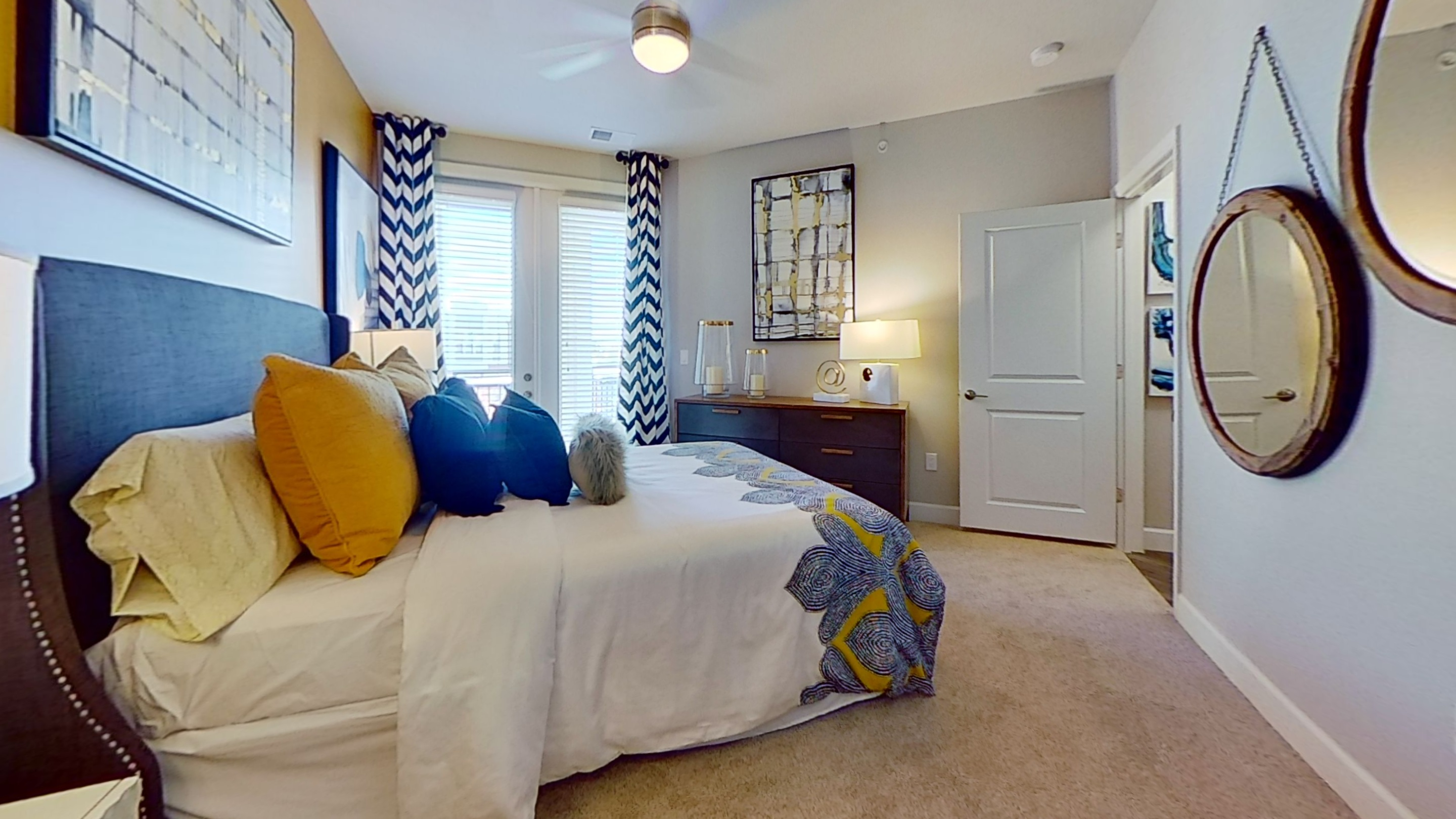 A3 Unit Bedroom at the Vue at Creve Coeur Apartments in Creve Coeur, MO