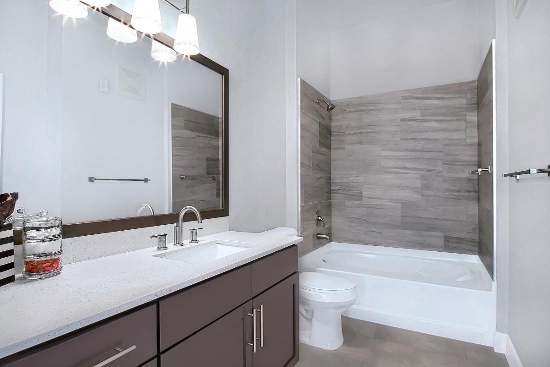 B2 Unit Bathroom at the Vue at Creve Coeur Apartments in Creve Coeur, MO