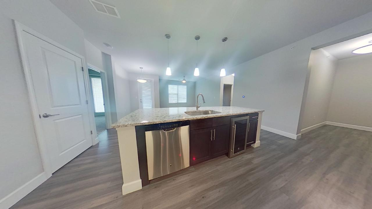 B3 Kitchen Island at the Vue at Creve Coeur Apartments in Creve Coeur, MO