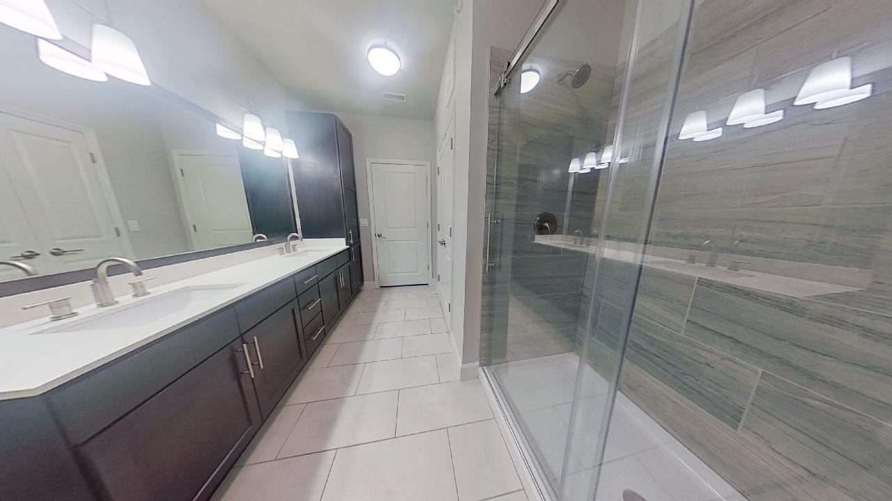 B3 Bathroom at the Vue at Creve Coeur Apartments in Creve Coeur, MO