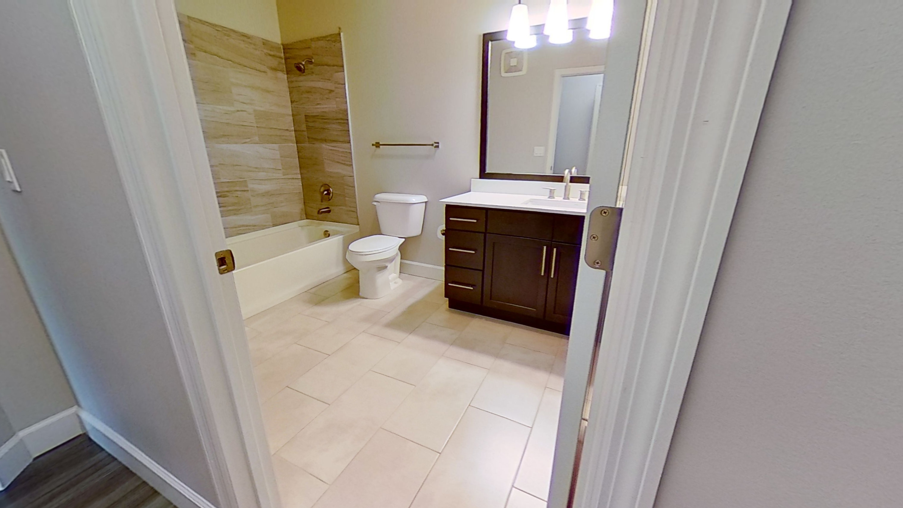 B4 Bathroom at the Vue at Creve Coeur Apartments in Creve Coeur, MO