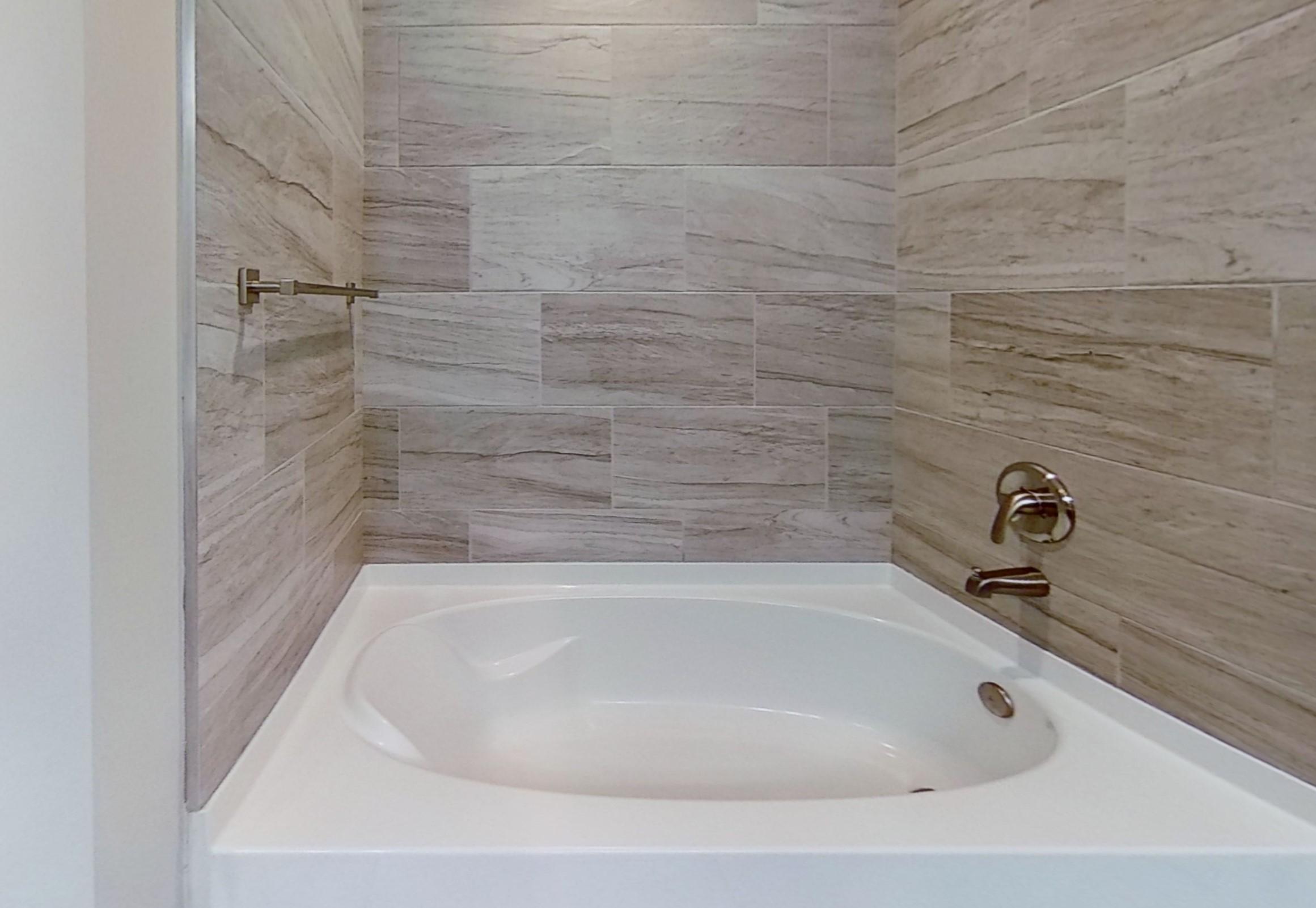 B4 Bathroom at the Vue at Creve Coeur Apartments in Creve Coeur, MO