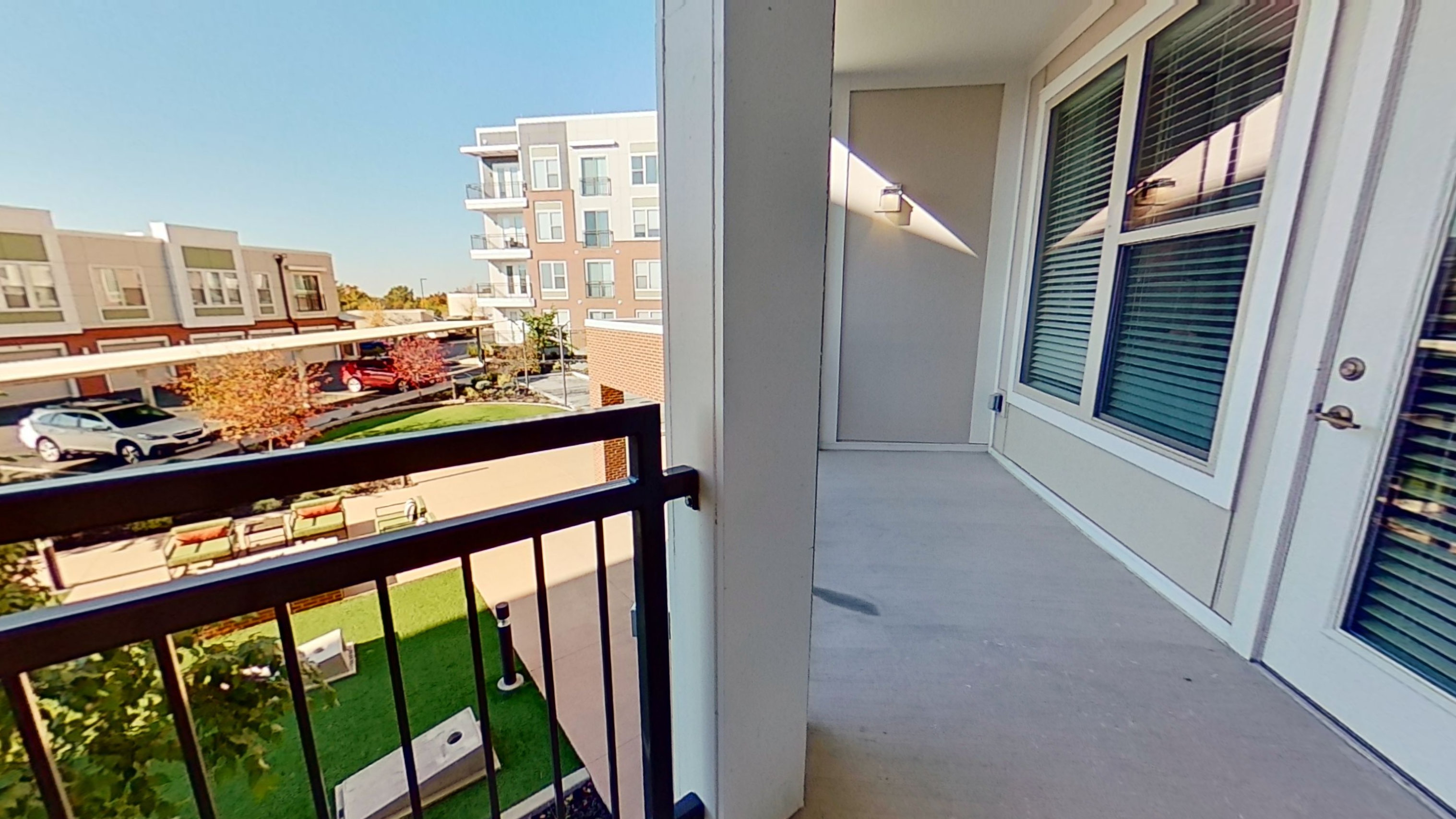 Balcony View at the Vue at Creve Coeur Apartments in Creve Coeur, MO