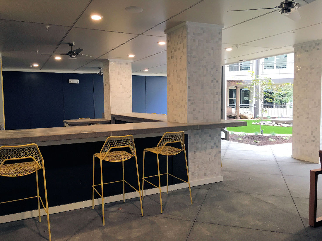 Bar Area at the Vue at Creve Coeur Apartments in Creve Coeur, MO