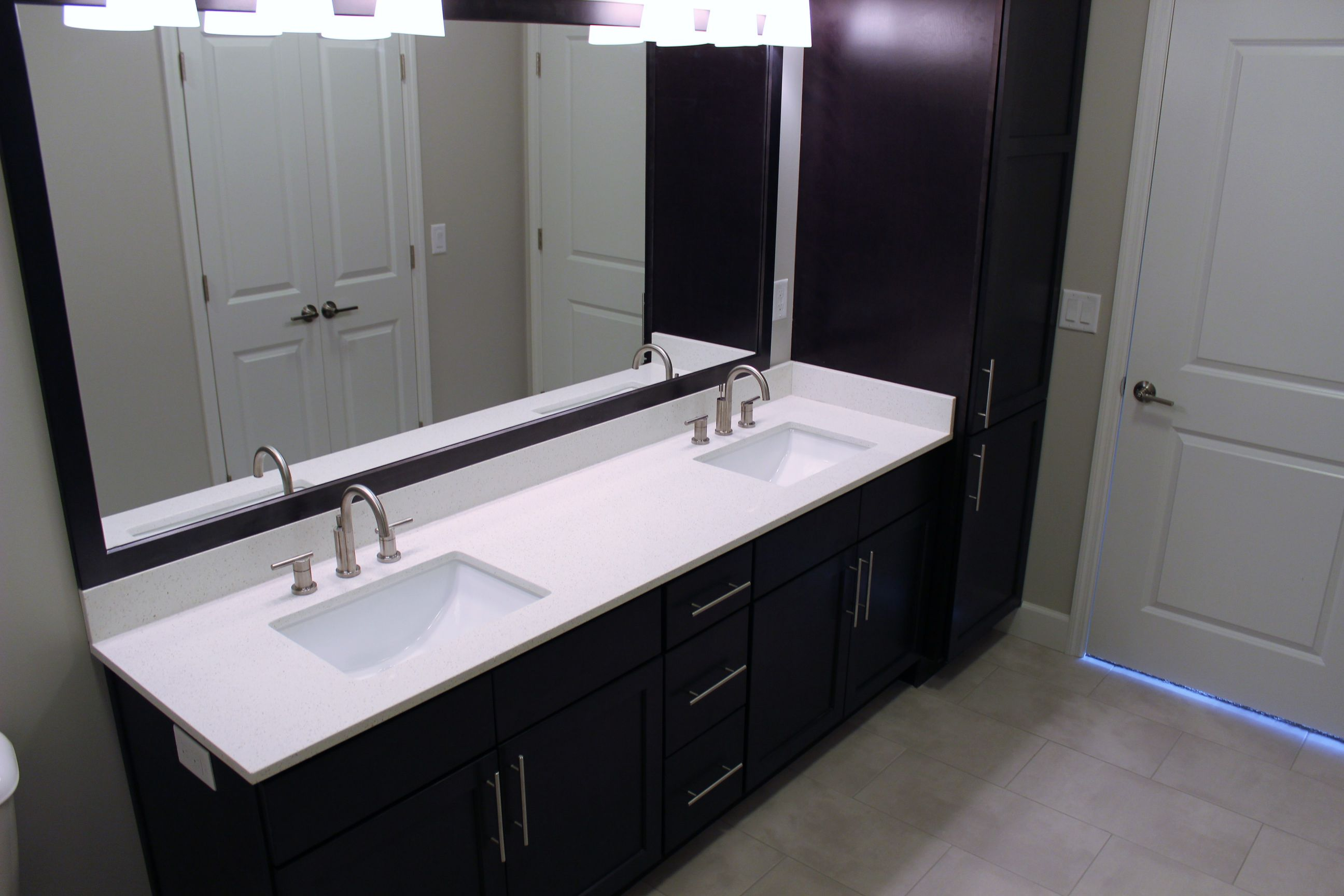 Bathroom at the Vue at Creve Coeur Apartments in Creve Coeur, MO