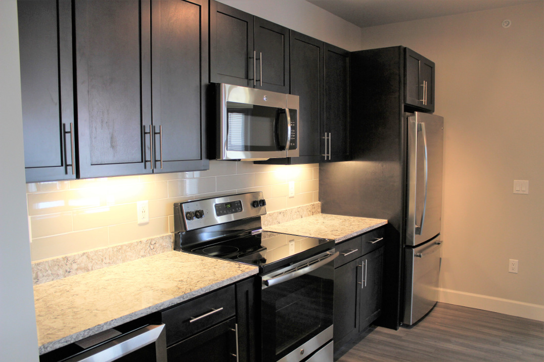 A3 Kitchen at the Vue at Creve Coeur Apartments in Creve Coeur, MO