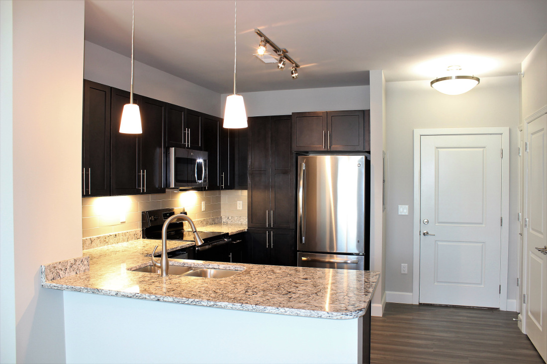 A2 Kitchen at the Vue at Creve Coeur Apartments in Creve Coeur, MO