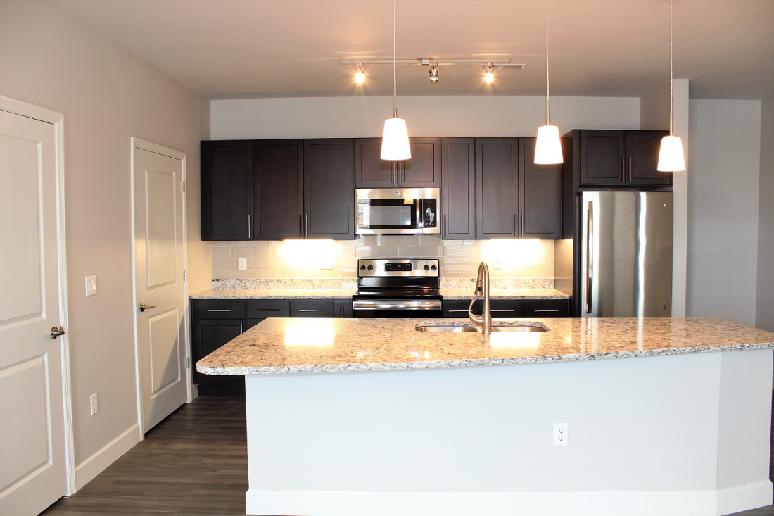 B3 Kitchen at the Vue at Creve Coeur Apartments in Creve Coeur, MO