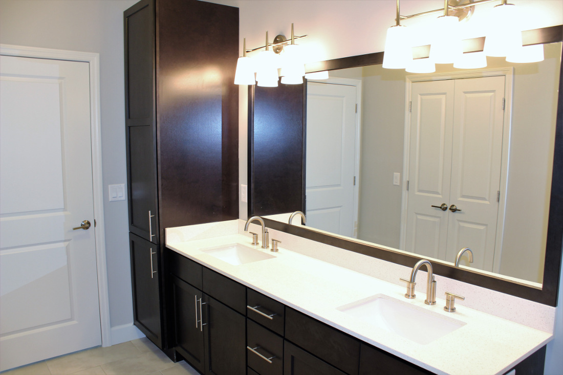 B3 Bathroom at the Vue at Creve Coeur Apartments in Creve Coeur, MO