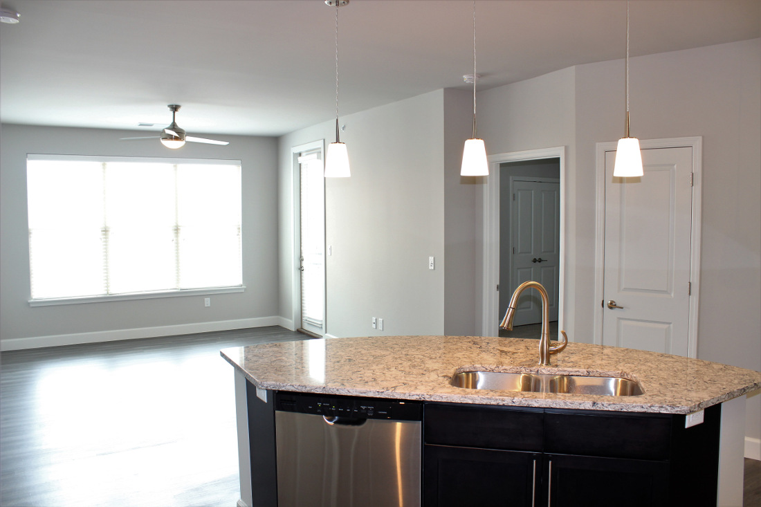 B2 Kitchen at the Vue at Creve Coeur Apartments in Creve Coeur, MO