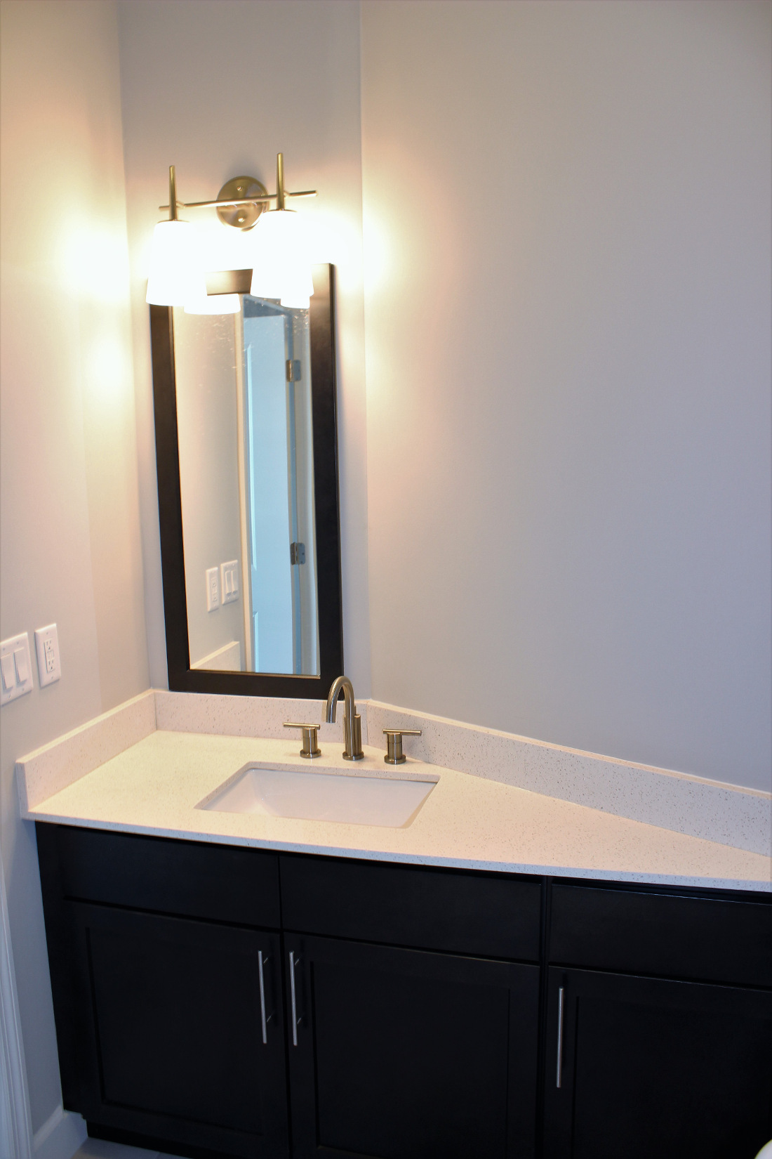 B1 Bathroom at the Vue at Creve Coeur Apartments in Creve Coeur, MO