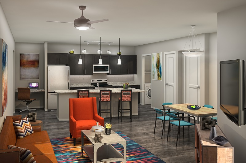 Interior Rendering at the Vue at Creve Coeur Apartments in Creve Coeur, MO