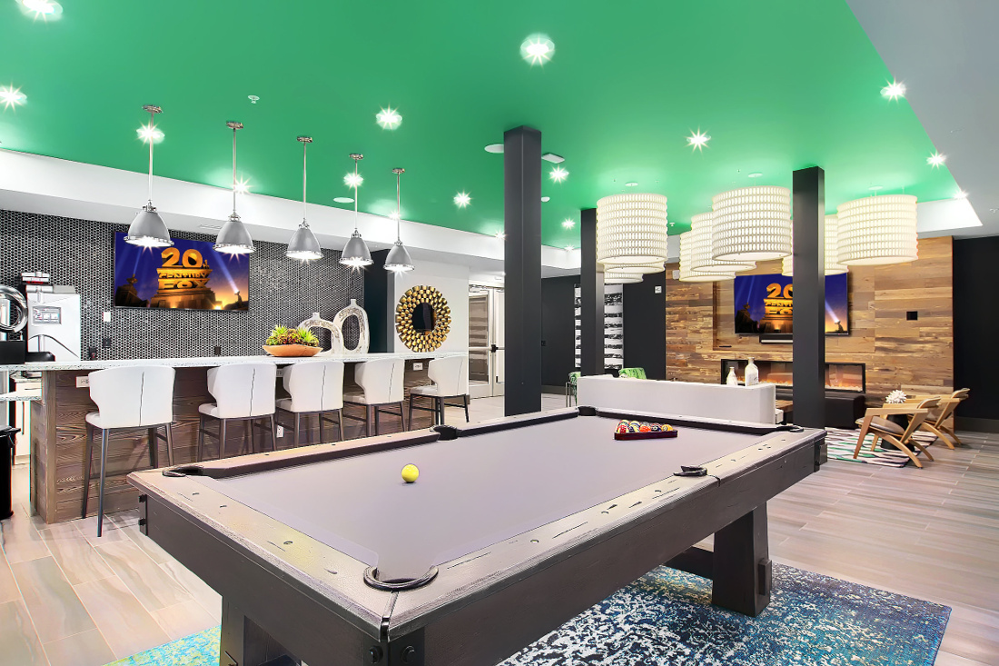 Entertainment Room at the Vue at Creve Coeur Apartments in Creve Coeur, MO