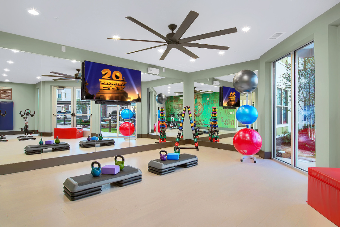Fitness Center at the Vue at Creve Coeur Apartments in Creve Coeur, MO