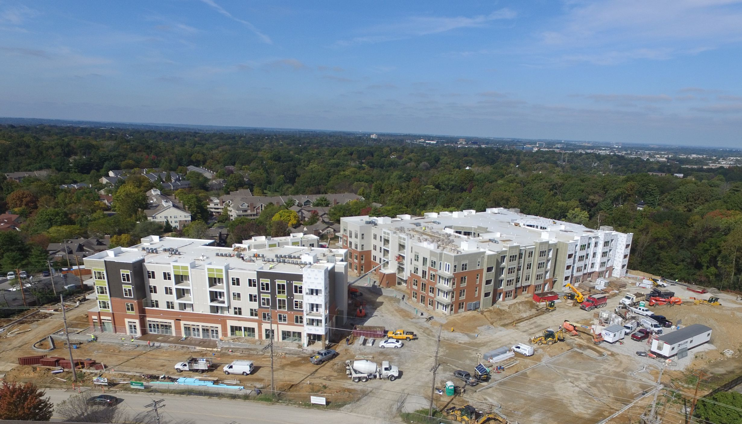 Construction in Progress at the Vue at Creve Coeur Apartments in Creve Coeur, MO