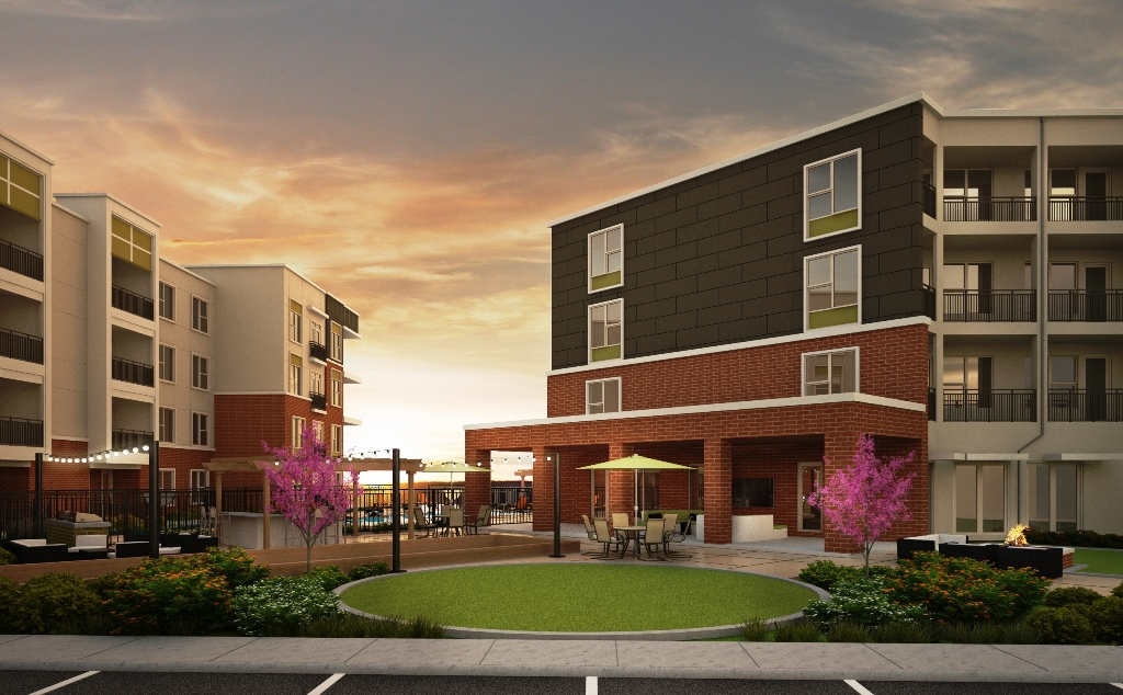 Exterior Rendering at the Vue at Creve Coeur Apartments in Creve Coeur, MO