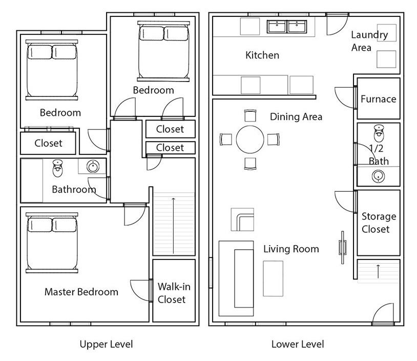Crystal Ridge Apartments & Townhomes - Floorplan - 3BR Townhome