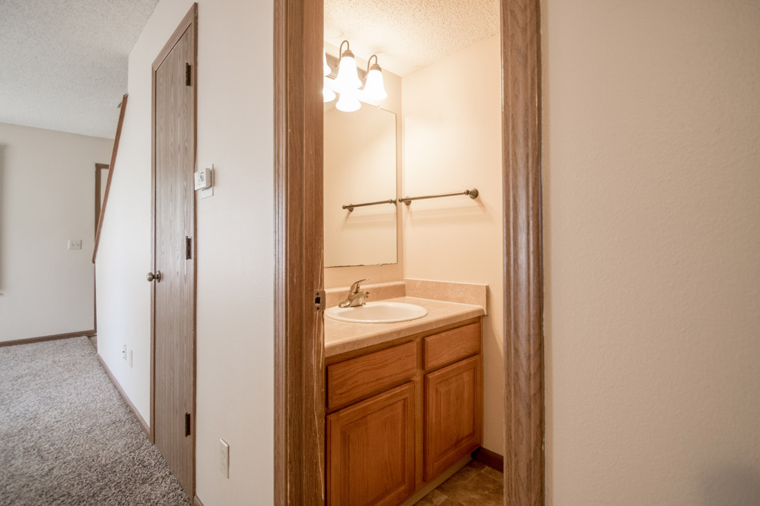 Bathroom at Crystal Ridge Apartments in Davenport, IA