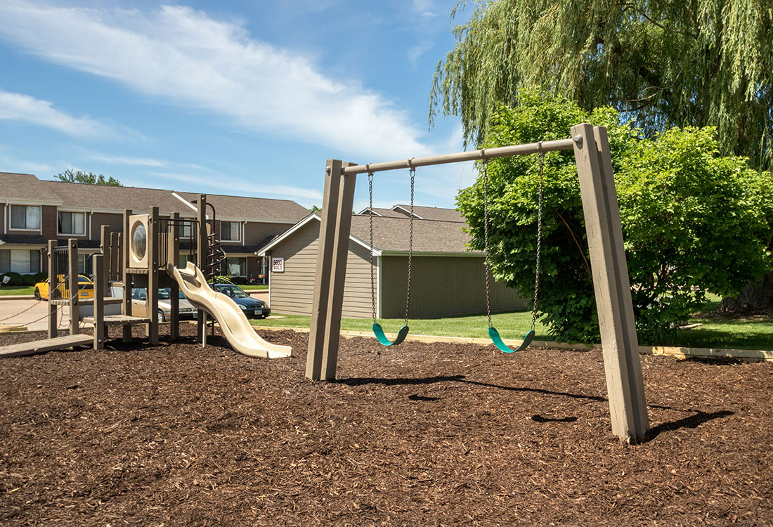 Playground at Crystal Ridge Apartments in Davenport, IA