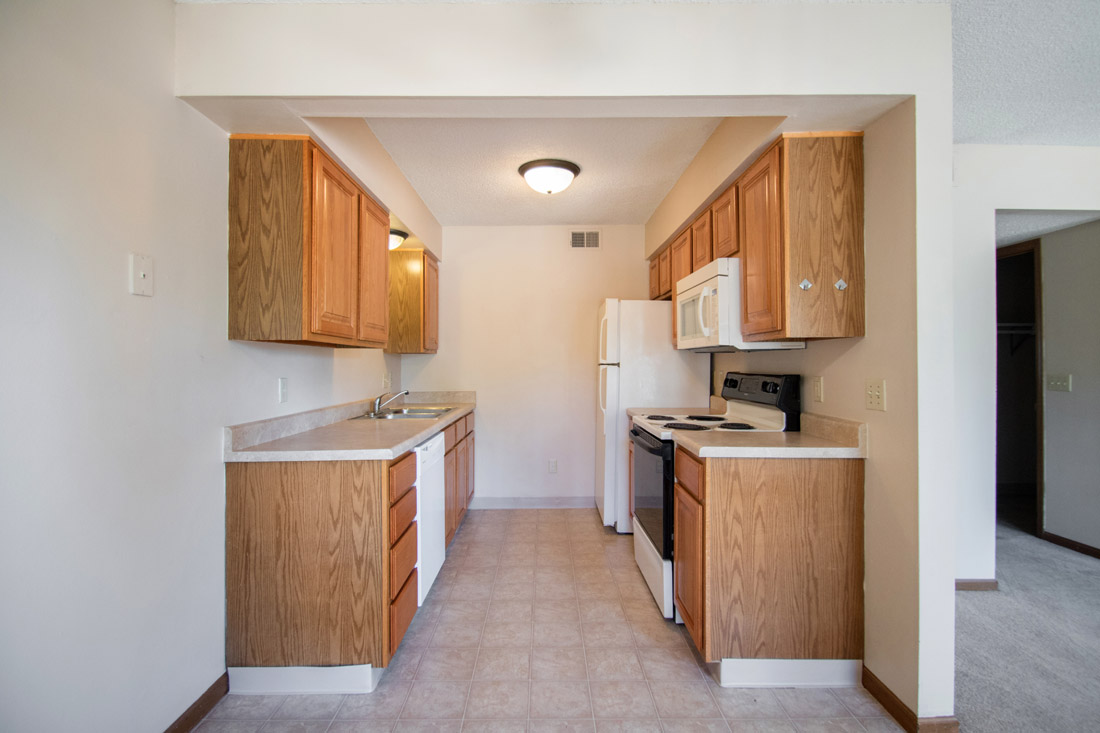 Kitchen at Crystal Ridge Apartments in Davenport, IA