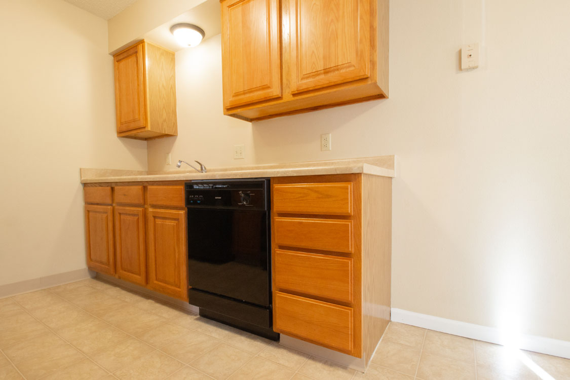 Kitchen at Crystal Ridge Apartments in Davenport, Iowa