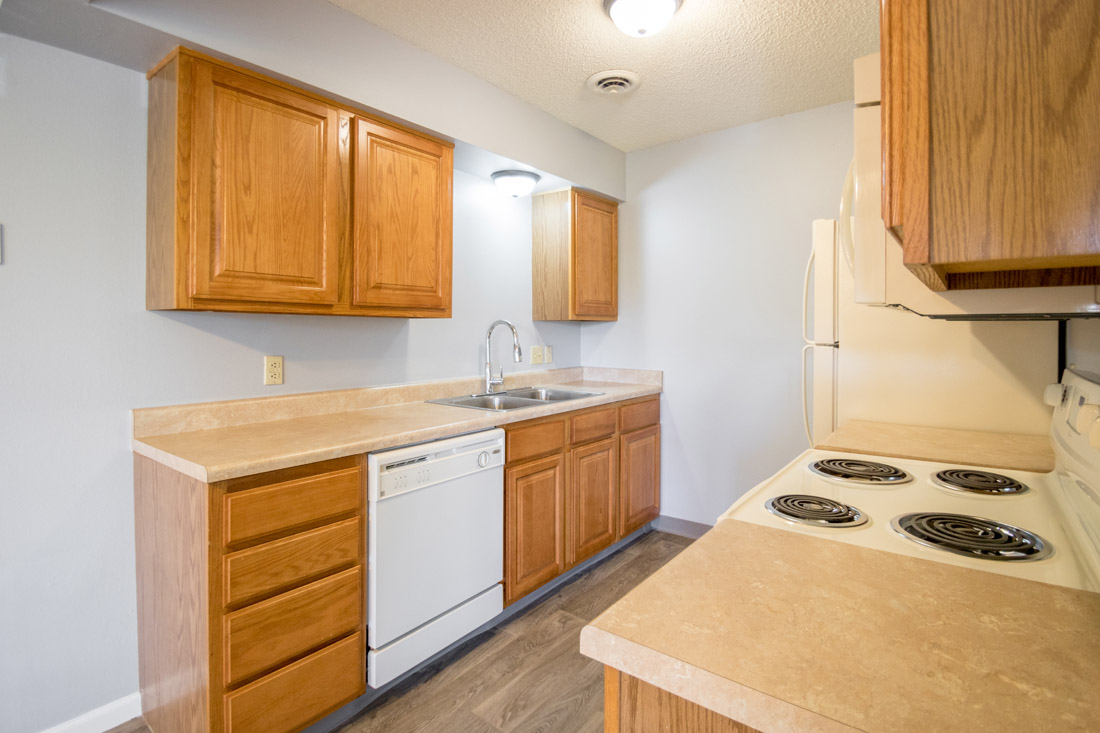 Renovated Kitchen at Crystal Ridge Apartments in Davenport, IA
