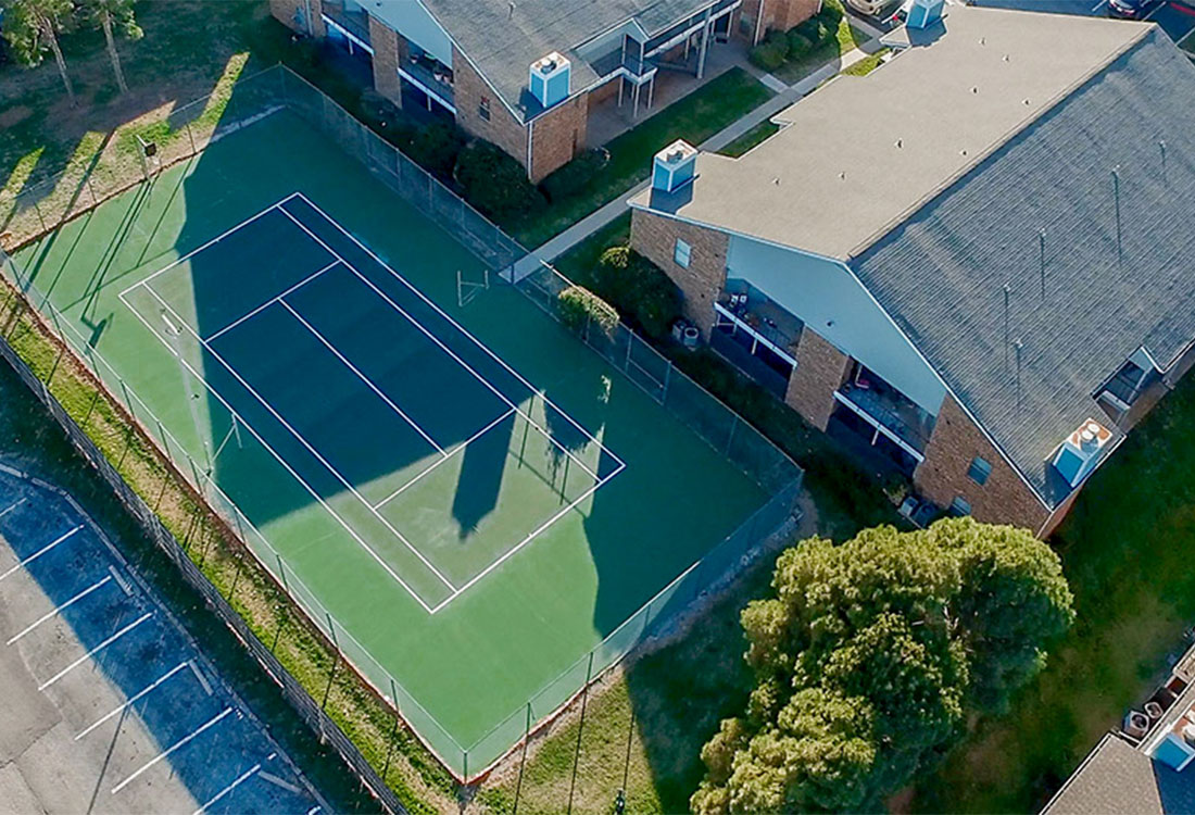 Tennis Court at Curry Junction Apartments in Abilene, Texas