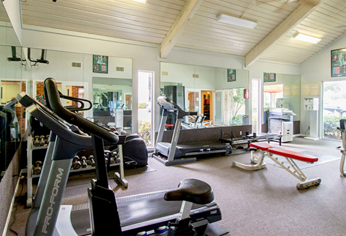 Fully Equipped Fitness Center at Curry Junction Apartments in Abilene, Texas