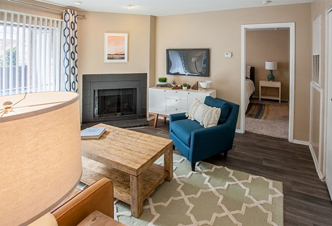 Abilene Apartments with Fireplace at Curry Junction Apartments in Abilene, Texas
