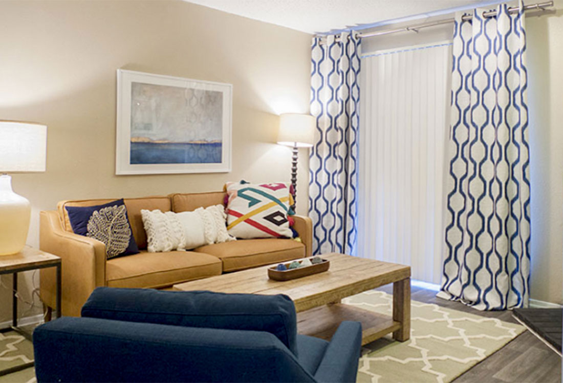 Large Living Rooms at Curry Junction Apartments in Abilene, Texas