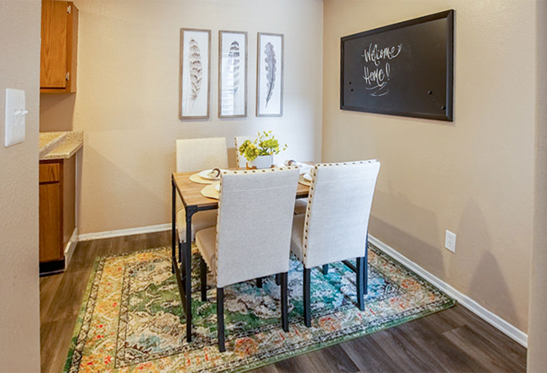 Dining Room Area at Curry Junction Apartments in Abilene, Texas