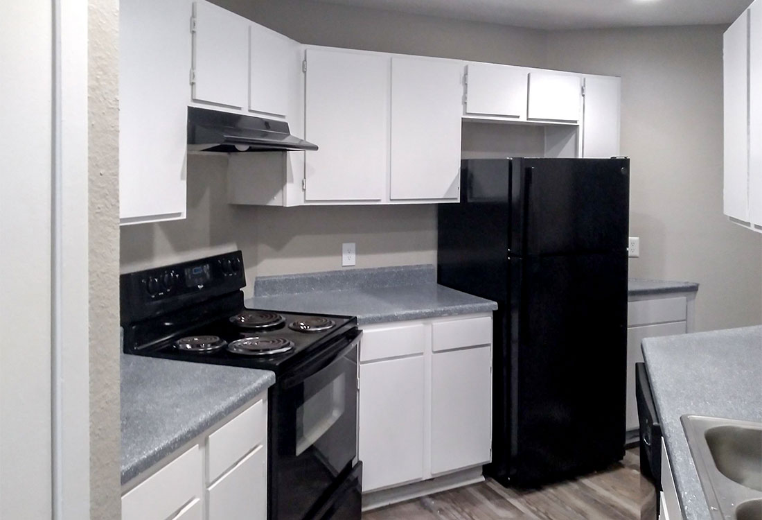 Upgraded Kitchens at Curry Junction Apartments in Abilene, Texas