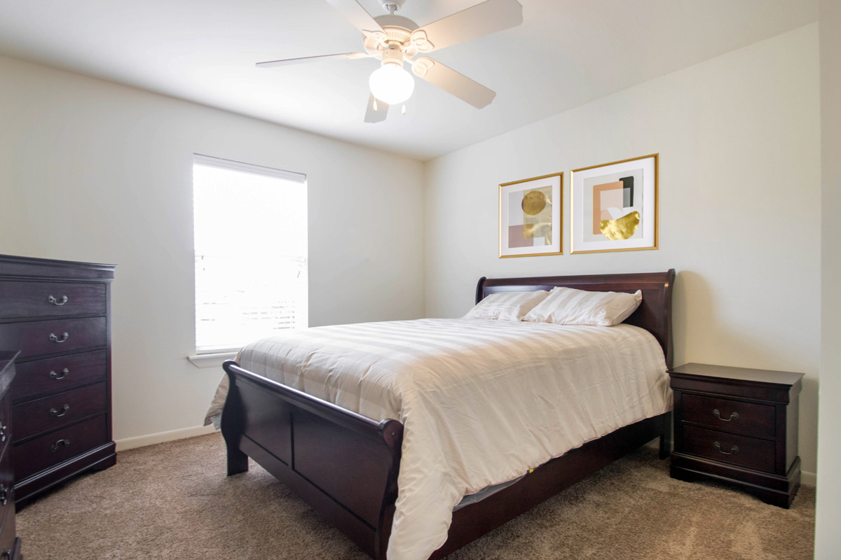 Spacious Bedroom at Cypress Bend Apartments in Beaumont, TX