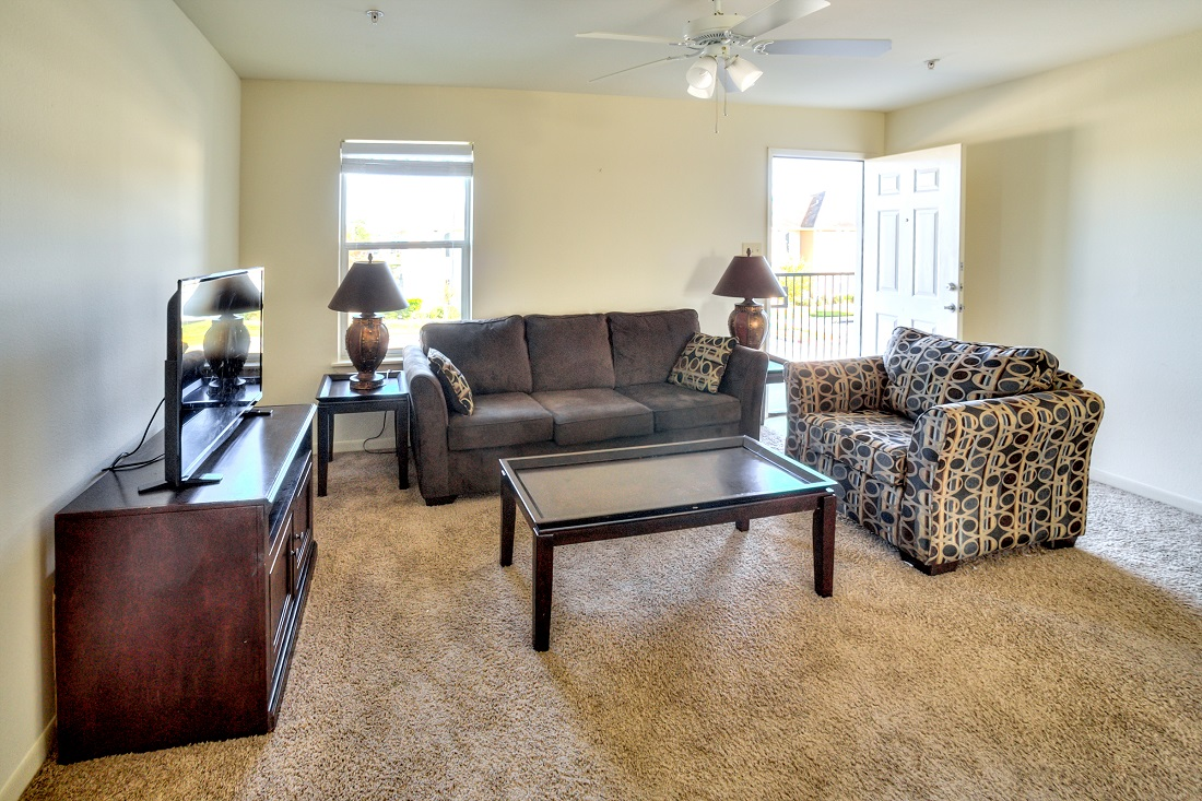 Open Living Area at Cypress Bend Apartments in Beaumont, TX