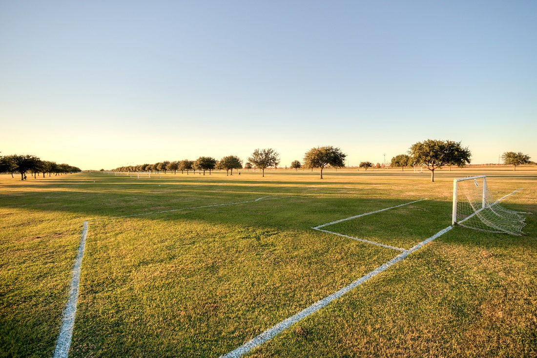 Recreational Soccer Field at Cypress Bend Apartments in Beaumont, TX