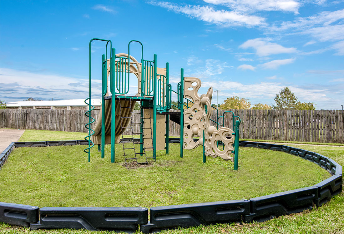 1 & 2 Bedroom Apartments with Children's Playground at Cypress Bend Apartments in West Beaumont, TX
