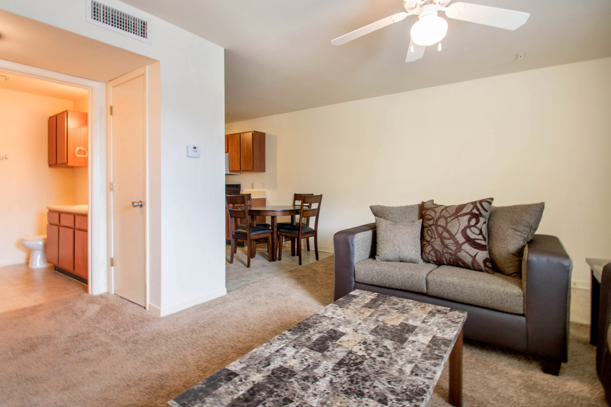 Spacious Living Room at Cypress Bend Apartments in Beaumont, TX