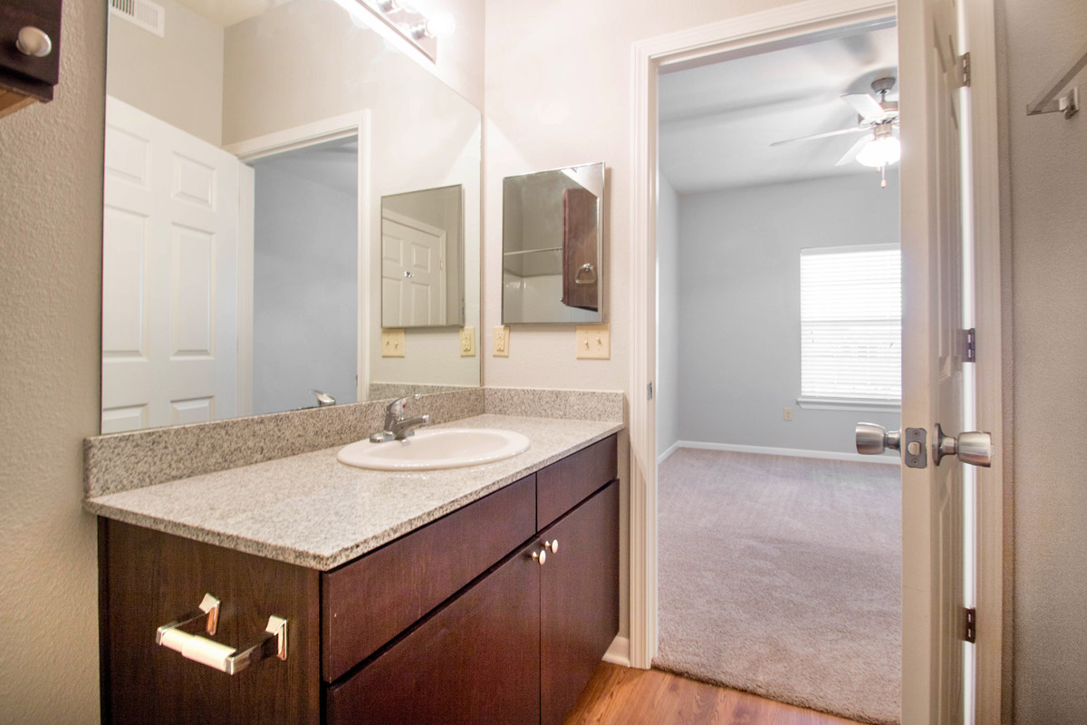 Large Bathroom Vanities at Cypress Bend Village Apartments in Beaumont, TX