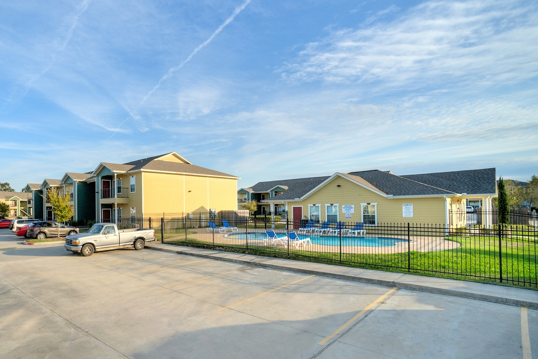 Sparkling Swimming Pool at Cypress Bend Village Apartments in Beaumont, TX