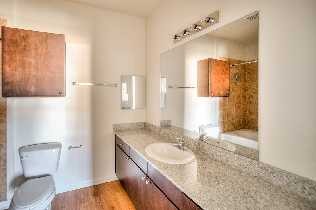 Spacious Bathrooms at Cypress Bend Village Apartments in Beaumont, TX