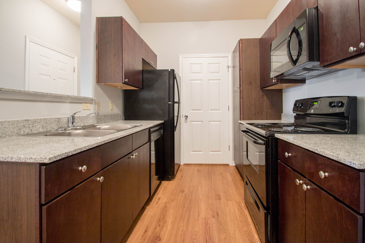 Black Appliances at Cypress Bend Village Apartments in Beaumont, TX