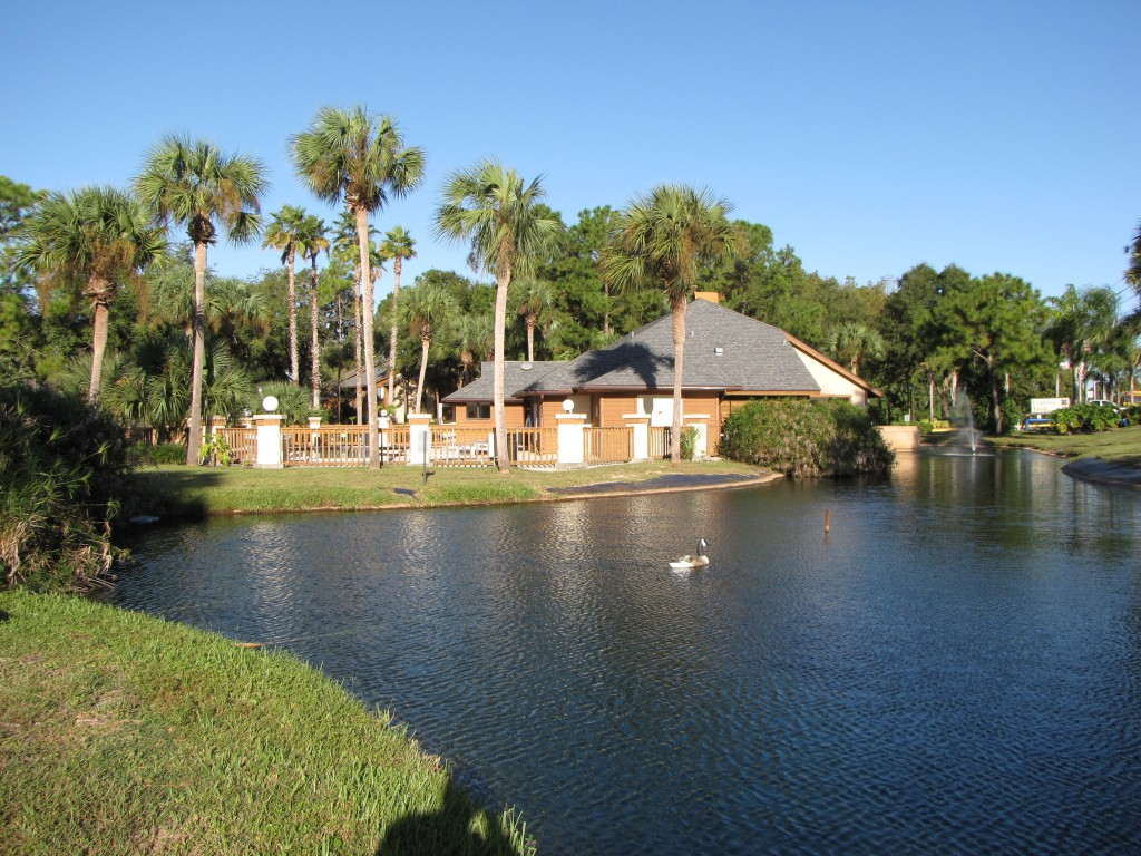 Gorgeous Pond at Cypress Trail Apartments in New Port Richey, FL
