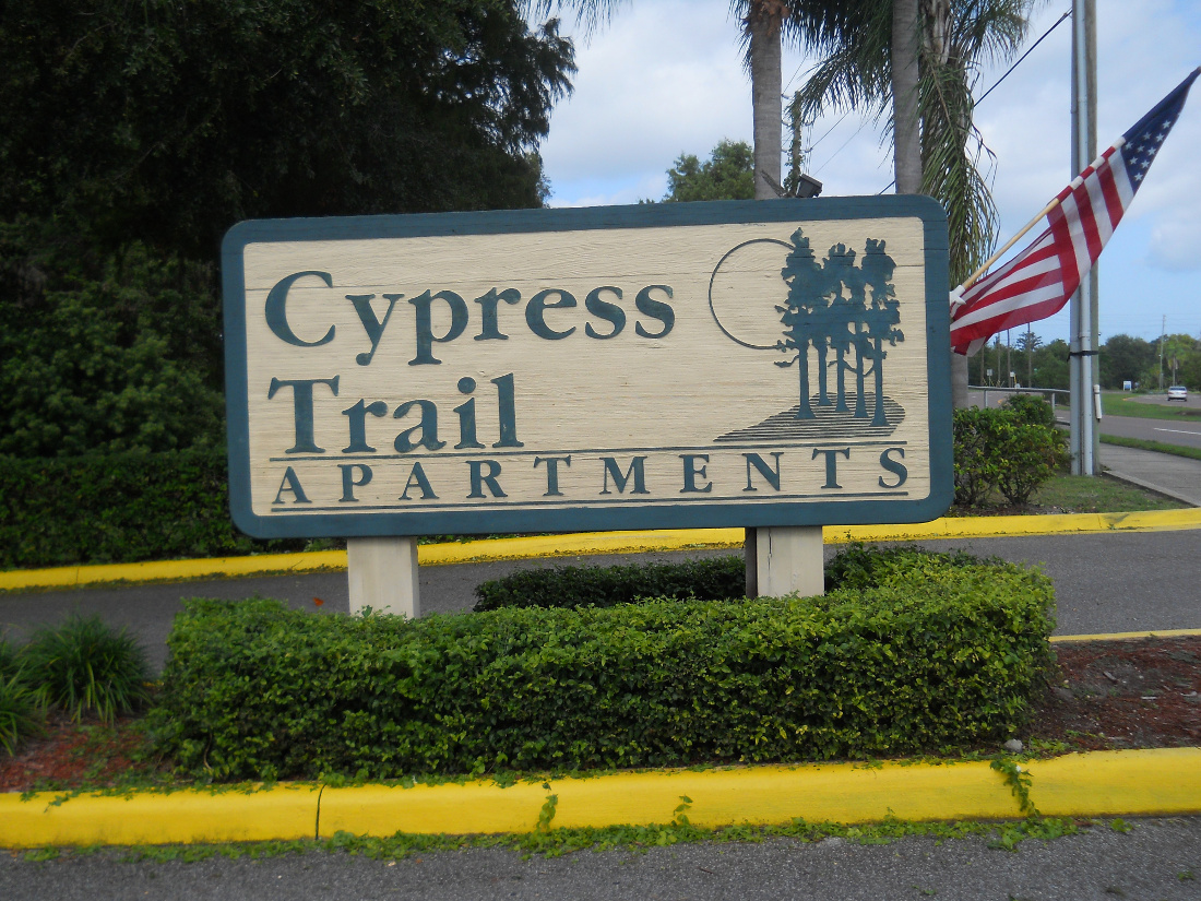 Property Sign at Cypress Trail Apartments in New Port Richey, FL