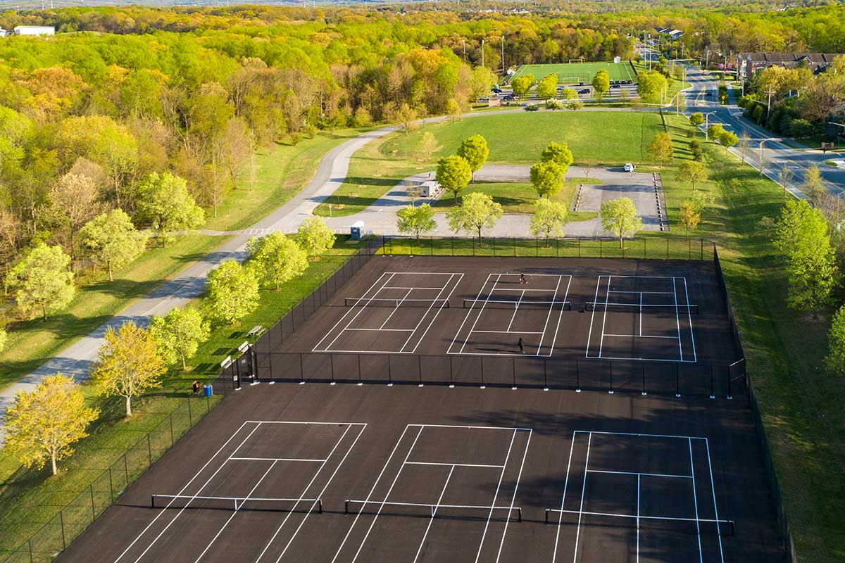 Tennis courts 10 minutes from Deerfield Run & Village Square North Apartments in Laurel, MD
