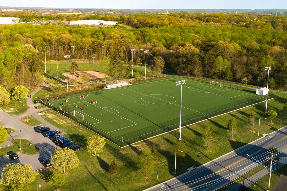 Soccer field 10 minutes from Deerfield Run & Village Square North Apartments in Laurel, MD