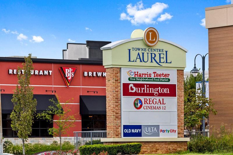 Towne Centre Laurel is 5 minutes from Deerfield Run & Village Square North Apartments