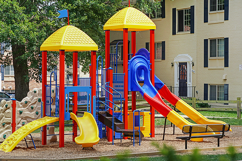 Play area at Deerfield Run & Village Square North Apartments in Laurel, MD