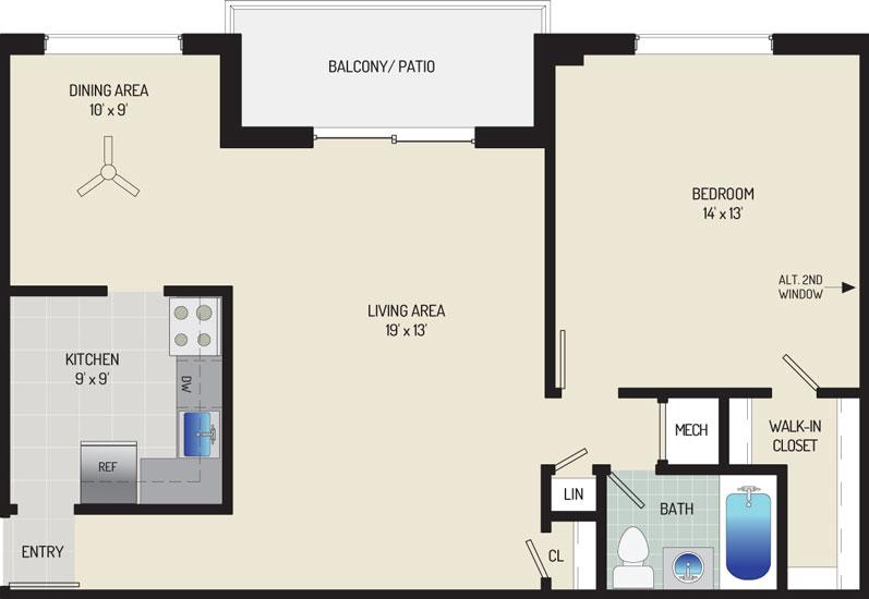Deerfield Run & Village Square North Apartments - Apartment 203240-301-B1