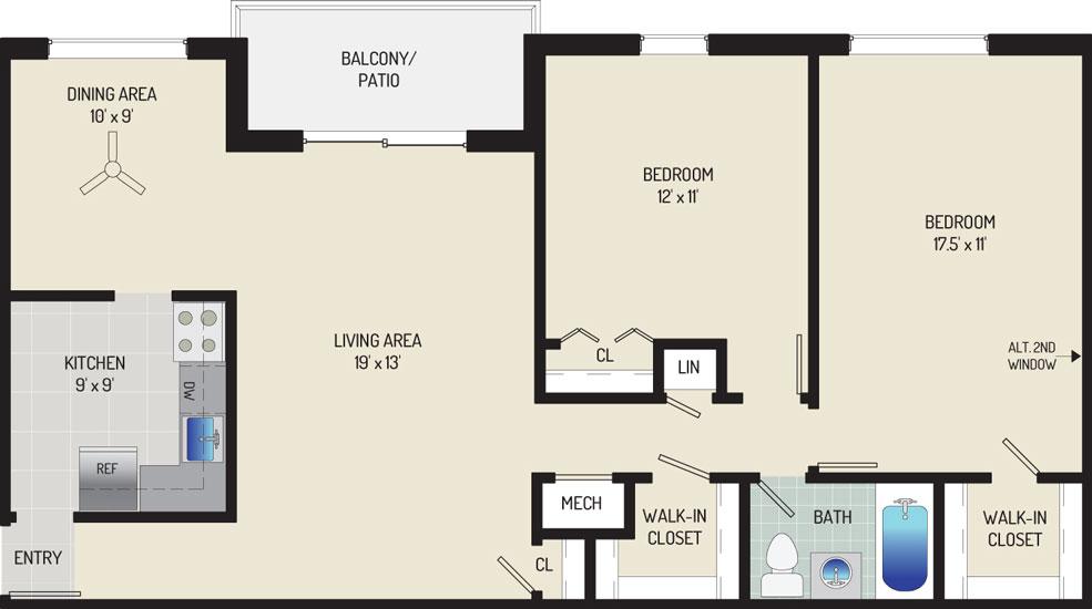 Deerfield Run & Village Square North Apartments - Apartment 203302-201-G1