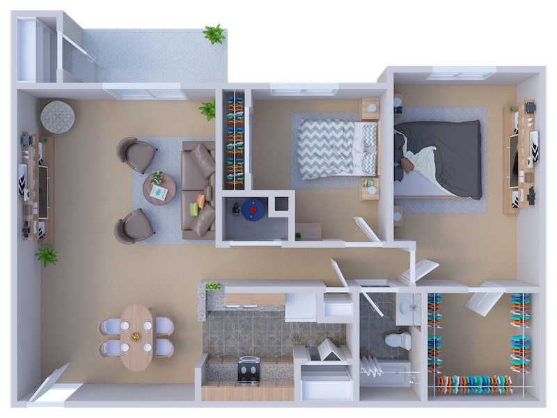 Floorplan - Concord (One Bath) image